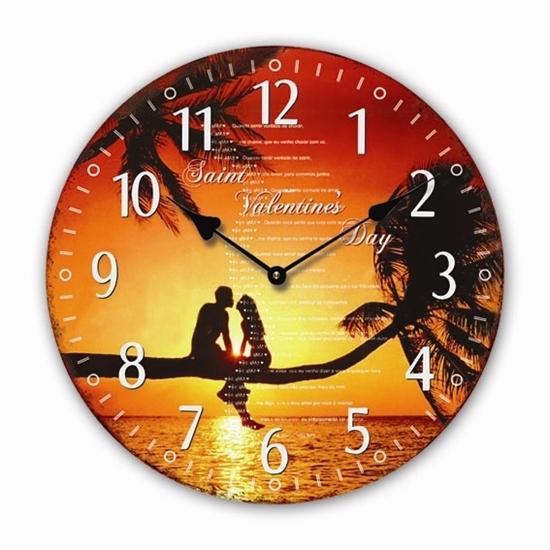 """Изображение настенные часы """"Valentines Day"""""""