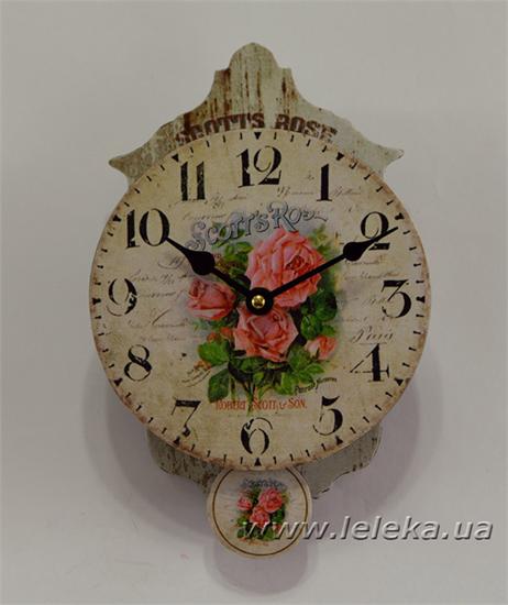 """Изображение настенные часы с маятником """"Scotts Rose"""""""
