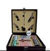 Изображение набор для покера и вина на 4 бутылки