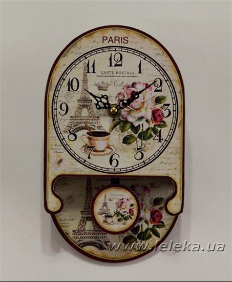 """Изображение настенные часы с маятником """"Paris"""""""