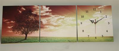 Изображение часы триптих