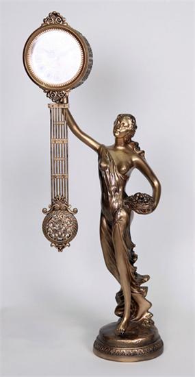 Изображение настольные часы статуэтка богини