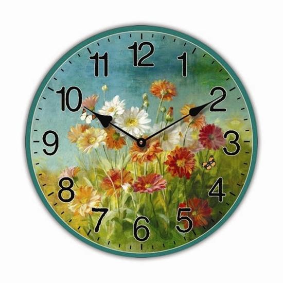 """Изображение настенные часы """"Полевые цветы"""""""