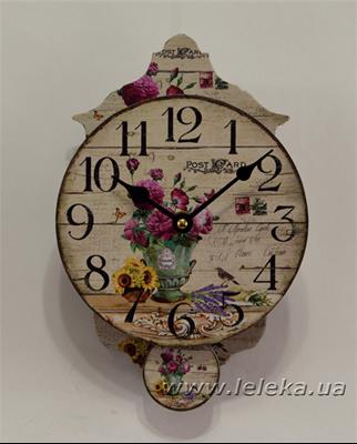 """Изображение настенные часы с маятником """"Post Ard"""""""