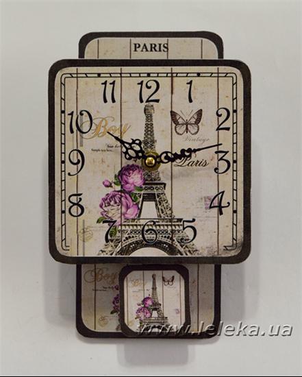 """Изображение настенные часы с маятником """"la tour Eiffel"""""""