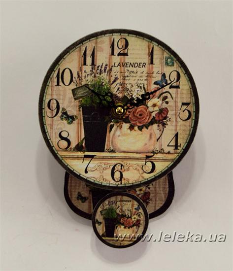 """Изображение настенные часы с маятником """"lavender"""""""
