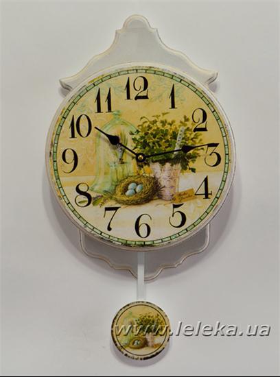"""Изображение настенные часы с маятником """"Time"""""""