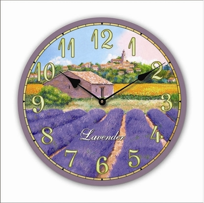 """Изображение настенные часы """"Lavender"""""""