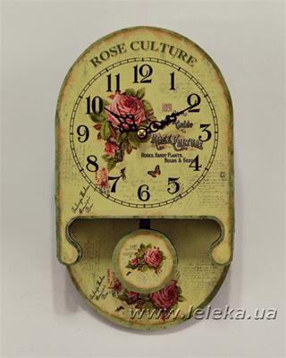 """Изображение настенные часы с маятником """"Rose Culture"""""""