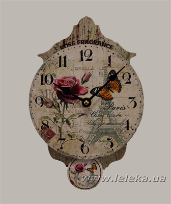 """Изображение настенные часы с маятником """"Rose Fragrance"""""""