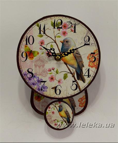 """Изображение настенные часы с маятником """"Bird"""""""