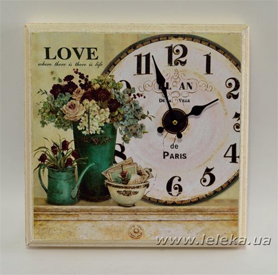 """Изображение настенные часы """"Love"""""""