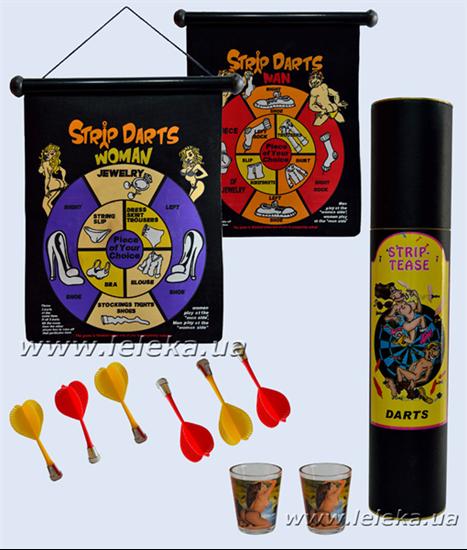 "Изображение дартс магнитый ""Strip Darts"" с рюмками"