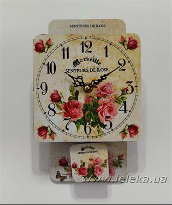 """Изображение настенные часы с маятником """"Senteurs de Rose"""""""