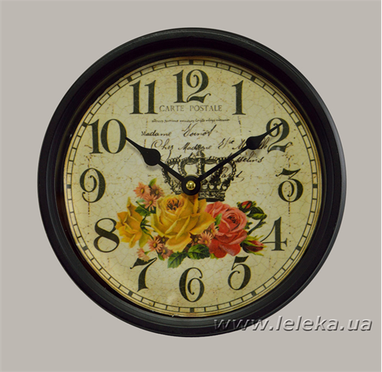 """Изображение настенные часы """"Carte Postale"""""""