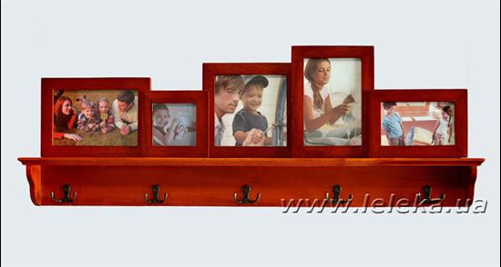 Изображение Вешалка с набором фоторамок