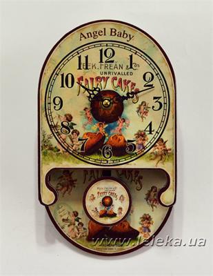 """Изображение настенные часы с маятником """"Angel Baby"""""""