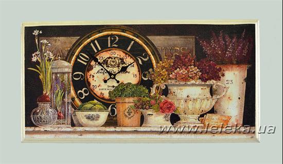 """Изображение настенные часы """"Flowers"""""""