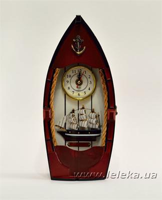"""Изображение Ключница с часами """"Лодка"""""""