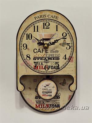 """Изображение настенные часы с маятником """"Cafe"""""""