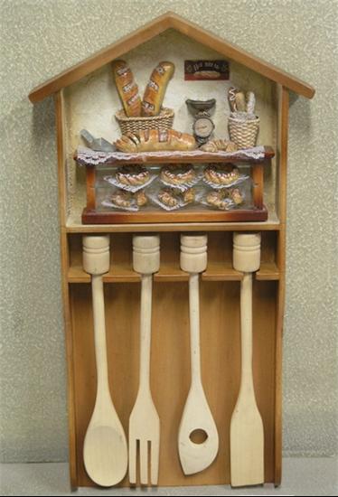 Изображение подставка для деревянных ложек