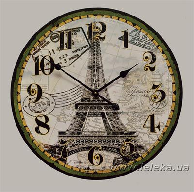 """Изображение настенные часы """"la tour Eiffel"""""""
