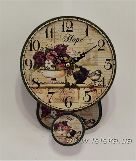 """Изображение настенные часы с маятником """"Hope"""""""