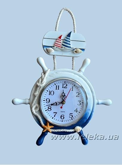 """Изображение настенные часы """"Штурвал"""""""