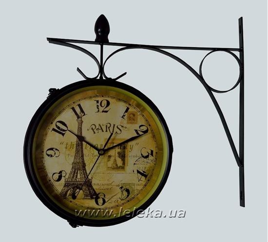 """Изображение уличные металлические часы """"Paris"""""""