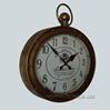 Изображение настенные овальные металлические часы