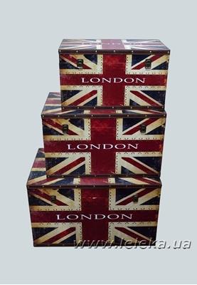 """Изображение набор сундуков """" London """"  3 шт."""
