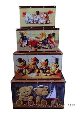 """Изображение набор сундуков """" Bears """"  4 шт."""